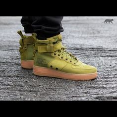 size 40 fd615 fa13d Nike Shoes   New Nike Air Force Ones   Color  Green   Size  Various