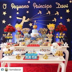 Mesa 1 Year Old Birthday Party, Prince Birthday Party, 1st Boy Birthday, First Birthday Parties, Birthday Party Decorations, First Birthdays, Baby Girl Shower Themes, Baby Shower Parties, Little Prince Party