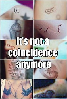 No it's not a coincidence. Best friends get similar tattoos all the time! Be happy for Elounor. Not trying to tell everyone what to believe, but guys seriously its hurting their relationship as friends too. #BromanceNotRomance #ibelieveinelounor