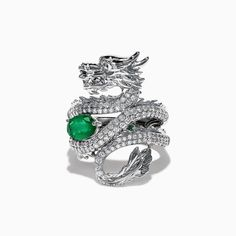 * EXTRA THICK RING* These extra thick stacking rings are perfect for mixing and matching! Either wear several at once or mix some in with your favorite rings for extra width and sparkle! Dragon Ring, Dragon Necklace, Dragon Jewelry, Snake Jewelry, Emerald Jewelry, Cute Jewelry, Jewelry Accessories, Black Diamond Jewelry, Emerald Dragon