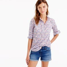 d0de2f2427a Ruffled popover shirt in Liberty Art Fabrics Emma and Georgina print