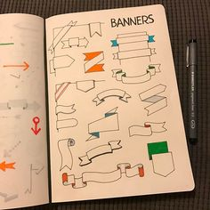 @therevisionguide Banners for this weeks challenge! #revisionguide_52wvv #52wvv_week10 #doodles #sketching #cartoons #sketchnotes #visualthinking #leuchtturm1917 #copicmarkers #kurecolor #graphgear1000