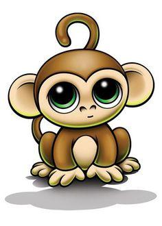 Monkey Temporary Tattoo - Zootoos