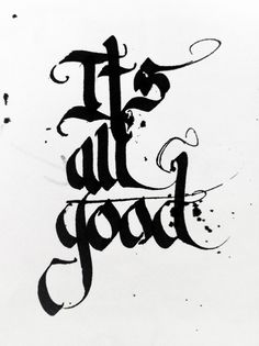 It's all Good. Parallel pen on paper.