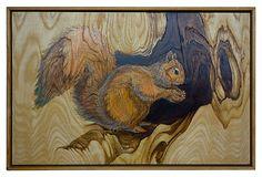Squirrel Painted on Wood on OneKingsLane.com