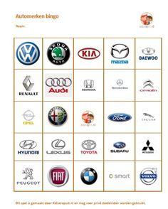 Automerken bingo