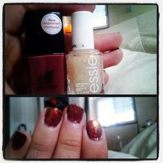 Like a fall day manicure...
