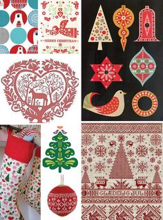 Scandinavian Style Christmas Trends   Print, Pattern & Graphics