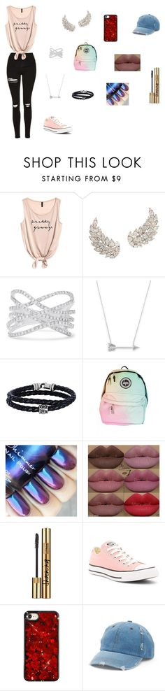 """idk"" by ktbspa-and-loveislove on Polyvore featuring moda, Effy Jewelry, Estella Bartlett, Phillip Gavriel, Kylie Cosmetics, Yves Saint Laurent, Converse y Mudd"