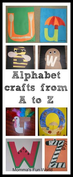 Mommas Fun World: Alphabet crafts for each letter