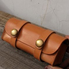 Hand Stitched Vintage Leather Glasses Case. Made of genuine cow leather. It will age beautifully .