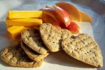 Gluten Free Herb Heart Snack Cracker-, sub quinoa flour for amarath