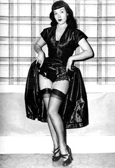 Bettie Page. Got to love this wildly  innocent and religious girl letting her hair down and really shocking the world with her wacky antics!  (FYI, it was hard to find a photo I thought was appropriate for PIN)  What a strange and interesting story!