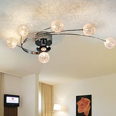 Ceiling Light Modern Living Bulbs Included 6 Lights 2015 – $122.99