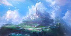 Sky Fortress, OKU . on ArtStation at https://www.artstation.com/artwork/DDQG