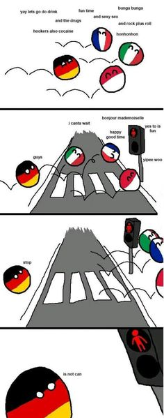 Red Light ( Germaney ) by arrz Funny Images, Best Funny Pictures, Gifs, History Memes, Fun Comics, Hetalia, Funny Cute, Funny Jokes, Country