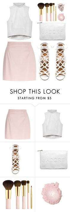 """""""River Island Light Pink leather-look A-line skirt"""" by goldiloxx on Polyvore"""