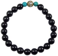 Chakra Crafts Black Onyx Healing Bracelet for Meditation Gemstone Wrist mala (Onyx, Conch Shell 2 Turquoise) Buddhist Prayer, Healing Bracelets, Special Deals, Conch, Black Onyx, Chakra, Cool Things To Buy, Shells, Meditation