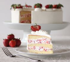 Have you evertasted a piece of heaven?Strawberry Cream Cakeis sureto be one your family and friends favorite cakes this year; Cake layers so light, moist, and tender, filled with lightly sweete…