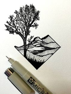 Ink drawing by Derek Myers. I do have a pen like this so could have a go.....