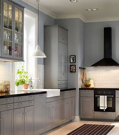 cocina rústica gris
