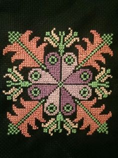 My Palestinian Cross stitching! A mini purse to be. needs some beads as a final magic touch. Cross Stitch Gallery, Cross Stitch Borders, Cross Stitch Alphabet, Cross Stitch Baby, Cross Stitch Flowers, Cross Stitch Designs, Cross Stitching, Cross Stitch Patterns, Embroidery Purse
