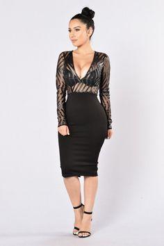 Ahead Of The Curve Dress - Black | Fashion Nova