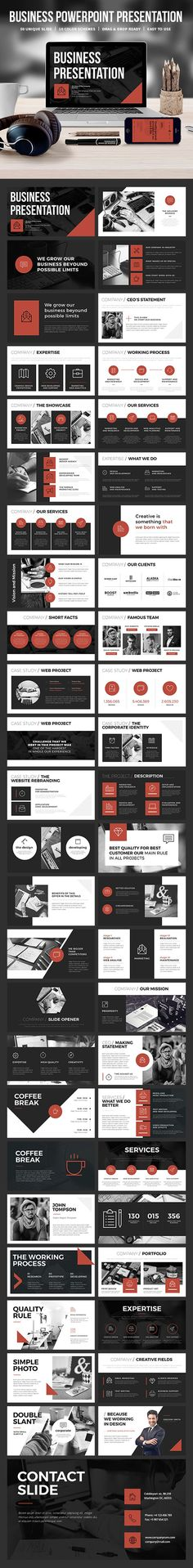 #Business #Powerpoint Template - Business PowerPoint #Templates Download here: https://graphicriver.net/item/business-powerpoint-template/19391681?ref=alena994 (Tech Design Resume Templates)