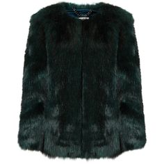 THP Shop Emerald Green Faux Fur Coat (10.589.850 IDR) ❤ liked on Polyvore featuring outerwear, coats, jackets, fur, fur jacket, fake fur coats, faux fur coats, cropped faux fur coat, imitation fur coats and cropped camisole