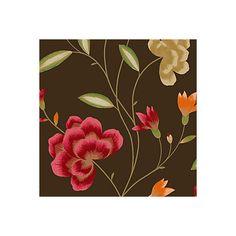 View Havana Floral Brown, Green & Red Wallpaper details