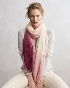 Ultra fine cashmere scarf,pure collection