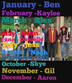 Which character are you from  the Lodge according  to the month you were born