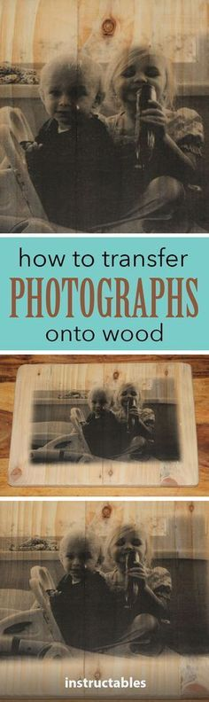 Customize any woodworking project with a photo transfer. #woodworkingtools