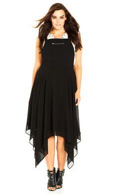 Women's Plus Size Soft Hunter Dress in black | CityChicOnline.com
