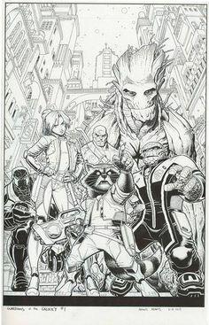 Guardians of the Galaxy #1 by Arthur Adams *