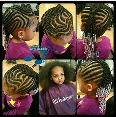 Braids on little girls