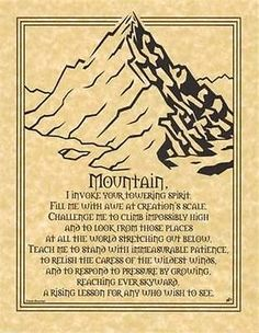 Mountain Prayer Parchment Page for Book of Shadows! pagan wicca witch
