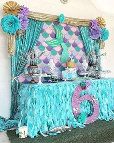 Beautiful Ideas For Decorating A Food Stand In Mermaid Birthday Party Girls Or Boys