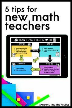 First Year Teaching, Teaching Tips, Teaching Math, Classroom Activities, Classroom Organization, Middle School Classroom, Math Concepts, Number Sense, New Teachers