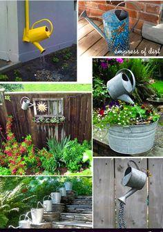 DIY - Watering Can Garden Art & Fountains