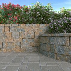 Pavestone RockWall Large 6 in. x 7 in. Yukon Concrete Retaining Wall - The Home Depot Concrete Block Retaining Wall, Concrete Pavers, Concrete Garden, Home Depot Retaining Wall, Concrete Walls, Natural Landscaping, Landscaping Retaining Walls, Outdoor Landscaping, Hill Landscaping