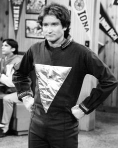 Robin Williams as Mork from Ork - Mork & Mindy TV show. I know he's not one of the movie stars who normally wins hottest man of the year, & maybe he's a weird crush, but I think he's handsome / cute, and I've always had a crush on him ever since Mork and Mindy.