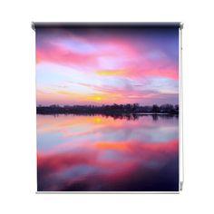 Rolgordijn Spiegelmeer | De rolgordijnen van YouPri zijn iets heel bijzonders! Maak keuze uit een verduisterend of een lichtdoorlatend rolgordijn. Inclusief ophangmechanisme voor wand of plafond! #rolgordijn #gordijn #lichtdoorlatend #verduisterend #goedkoop #voordelig #polyester #meer #water #plas #zonsondergang #zonsopgang #weerspiegeling #natuur #mooi #prachtig