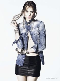 denim   diamonds  Photo  Tony Kim featuring Vanessa Hegelmaier for US Marie  Claire Ledermode 4f8aae7ff0
