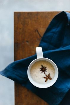 (dairy-free, vegan, paleo) Chai spiced coconut milk. A warm, fragrant and delicious winter beverage.