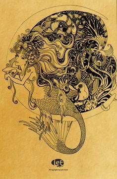 MERMAIDS by TRONG LEE, via Behance