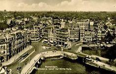 Panorama van Rotterdam 1930 Rotterdam, Family History, World War Ii, Over The Years, Netherlands, Paris Skyline, Van, Travel, World War Two