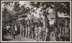 Balinese ceremony  procession 1920-36