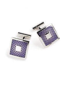 Black Brown 1826 Purple Cufflinks Men's Purple/Silver