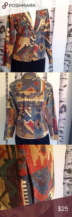 """LIGHTWEIGHT SPRING/SUMMER BLAZER/JACKET Matches literally everything in your closet, wear it with jeans, khaki, tan, brown, black, off white.....fabric beautifully matches so many things.  Features 2 hidden side slit pockets, fabric covered one button closure. Measures 23"""" shoulder to hem and 20"""" armpit to armpit. Willow Ridge Jackets & Coats Blazers"""